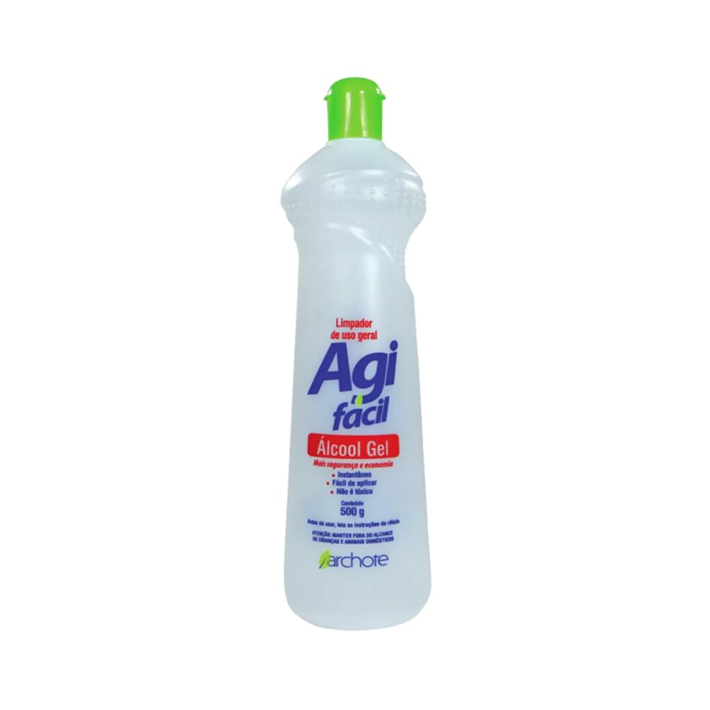 Álcool gel limpeza geral 68% desinfetactante Archote 500ml