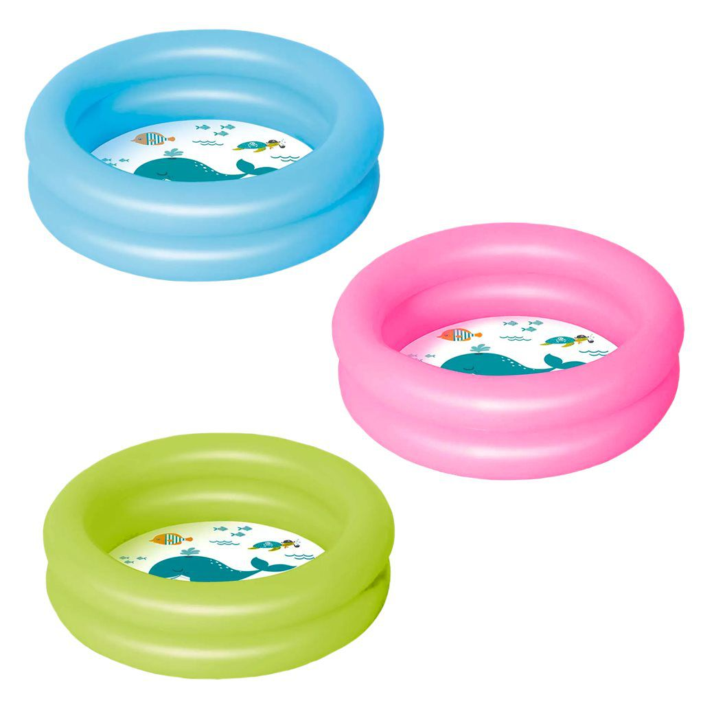 Banheira inflável infantil colorida 28 litros MOR