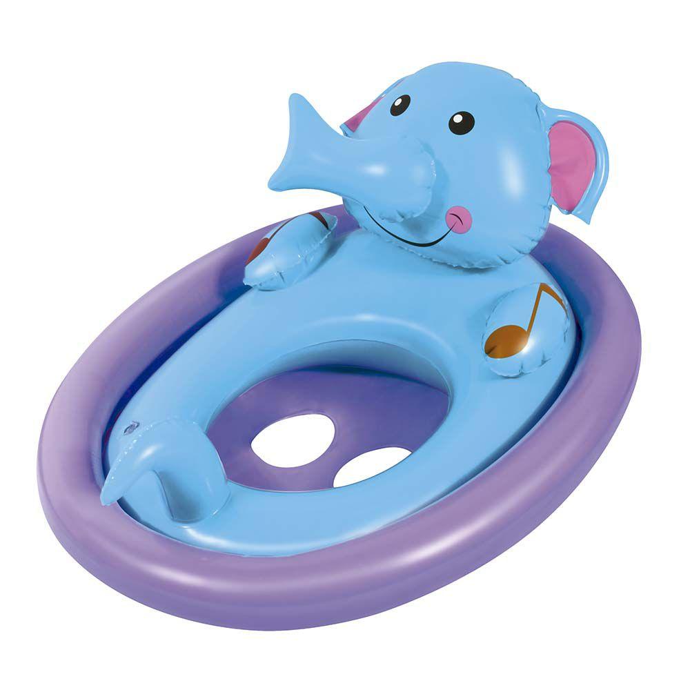 Boia infantil inflável elefante com fralda e som MOR