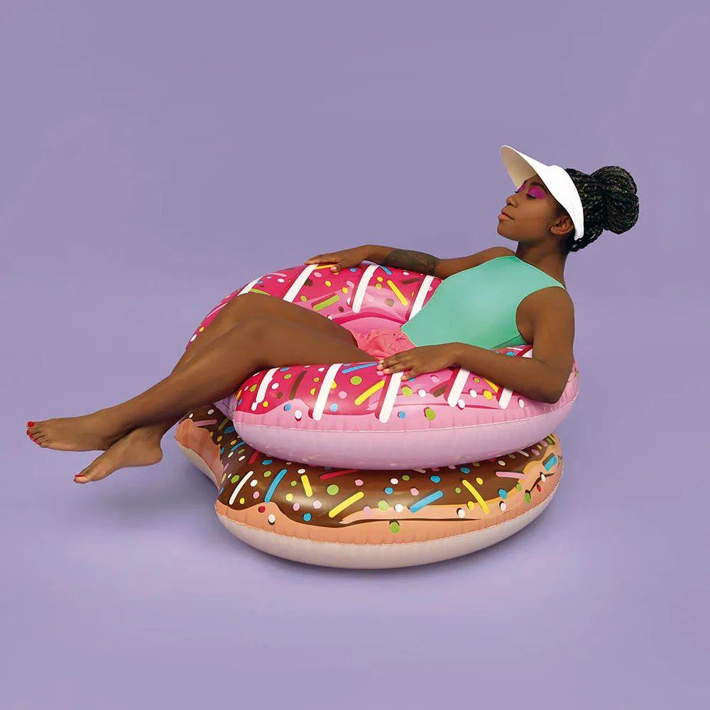 Boia donut Simpsons infantil inflável com kit reparos MOR