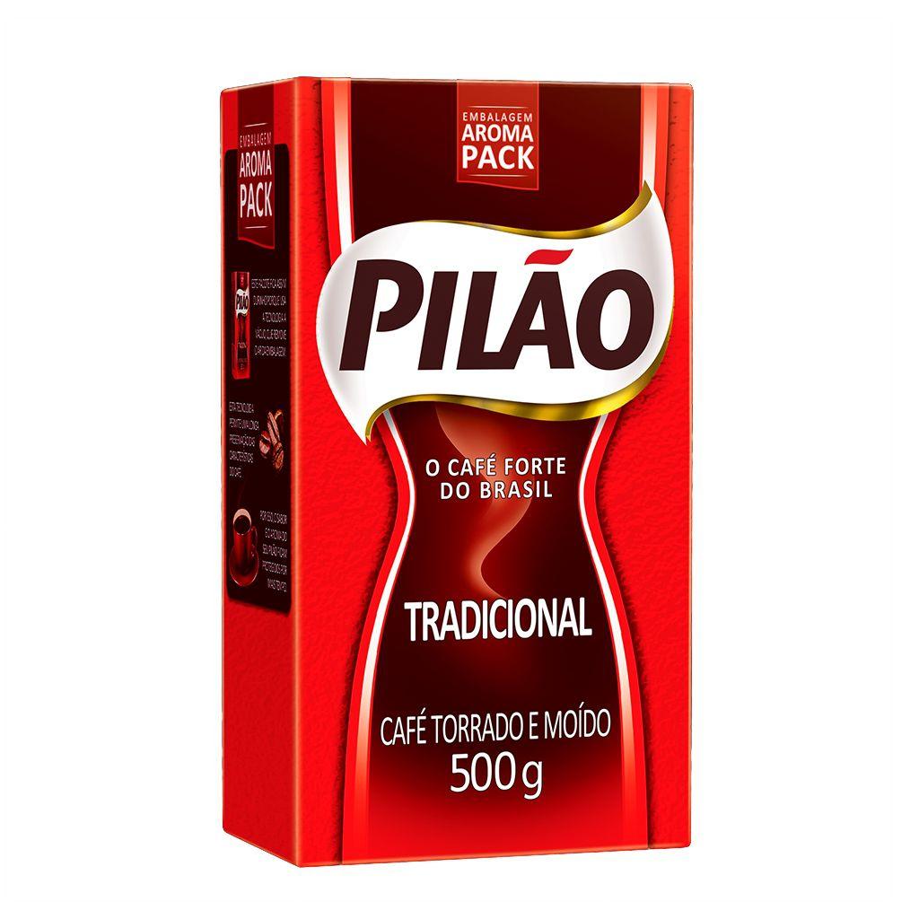 Café Pilão torrado moído tradicional embalado a vácuo 500 g