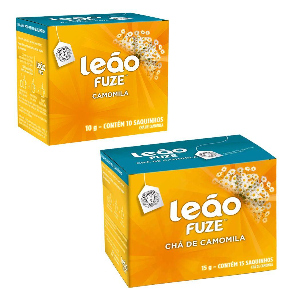 Chá de camomila caixa com 10 ou 15 sachês envelopados Leão