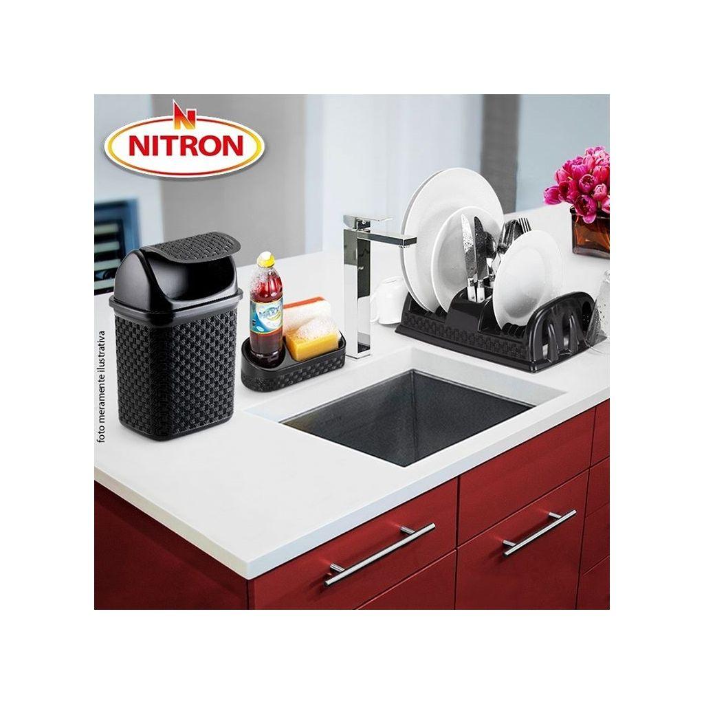 Conjunto para pia de cozinha 4 peças rattan Nitron