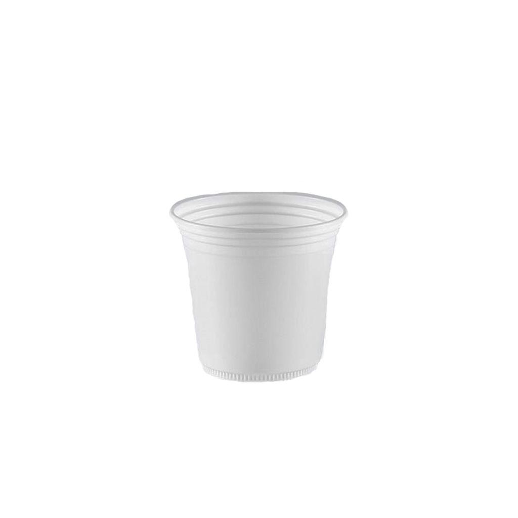 Copo descartável 110 ml caixa c/3.000 branco liso Copazza
