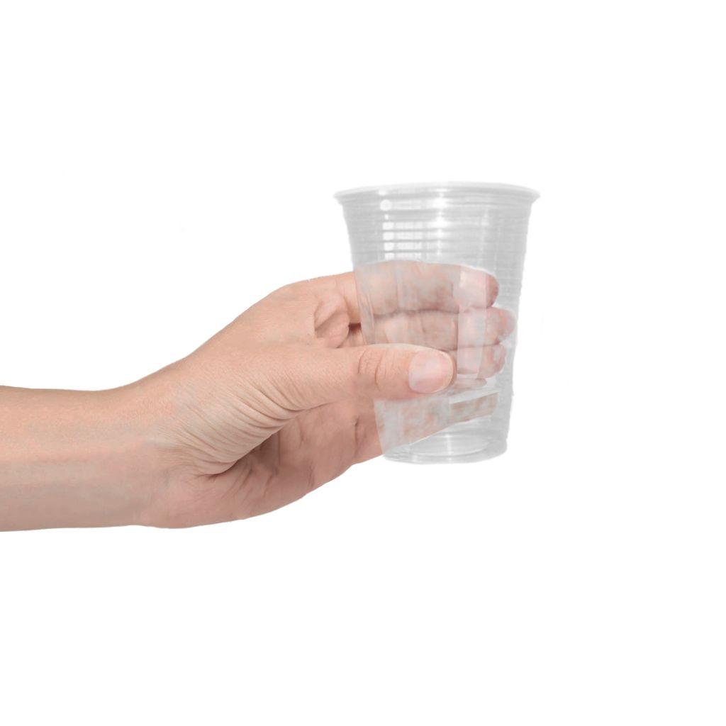 Copo descartável 180 ml cento transparente Cristalcopo