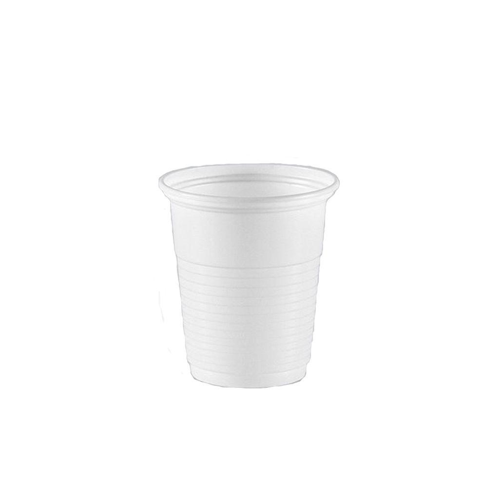 Copo descartável 80 ml caixa c/3.000 branco Copazza