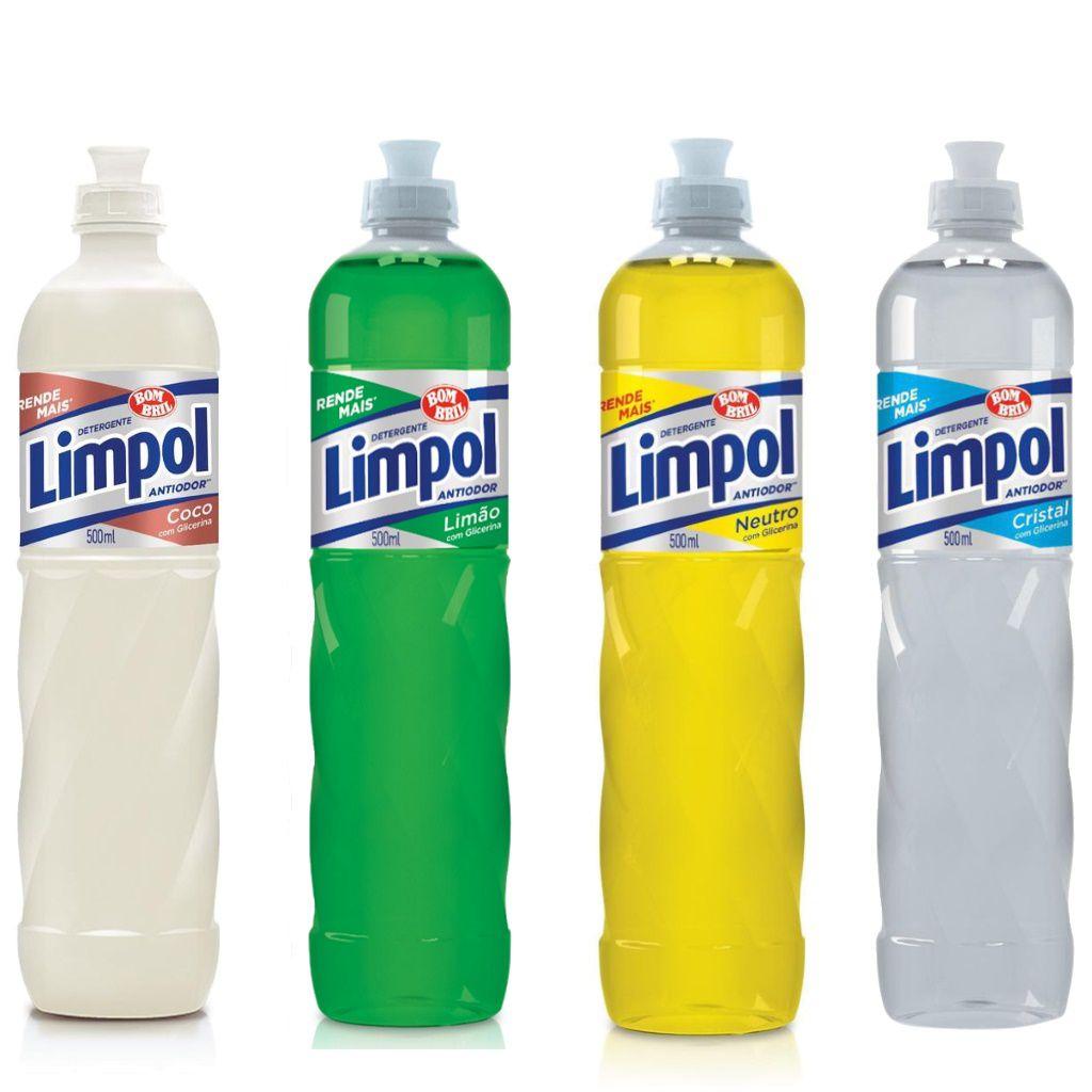 DETERGENTE LIMPOL LAVA LOUÇAS LÍQUIDO 500 ML