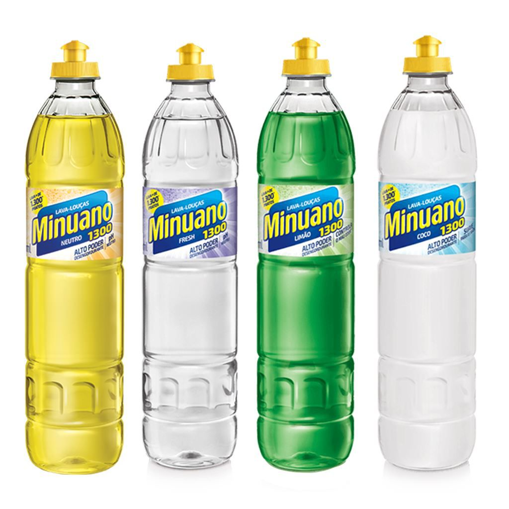 Detergente Minuano lava louças líquido 500 ml