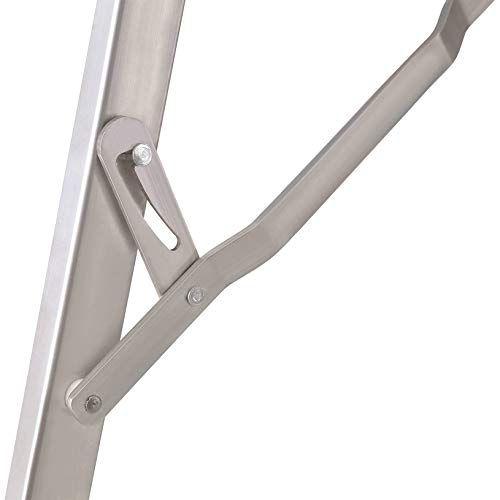 Escada banqueta de alumínio 3 degraus dobrável com alça MOR