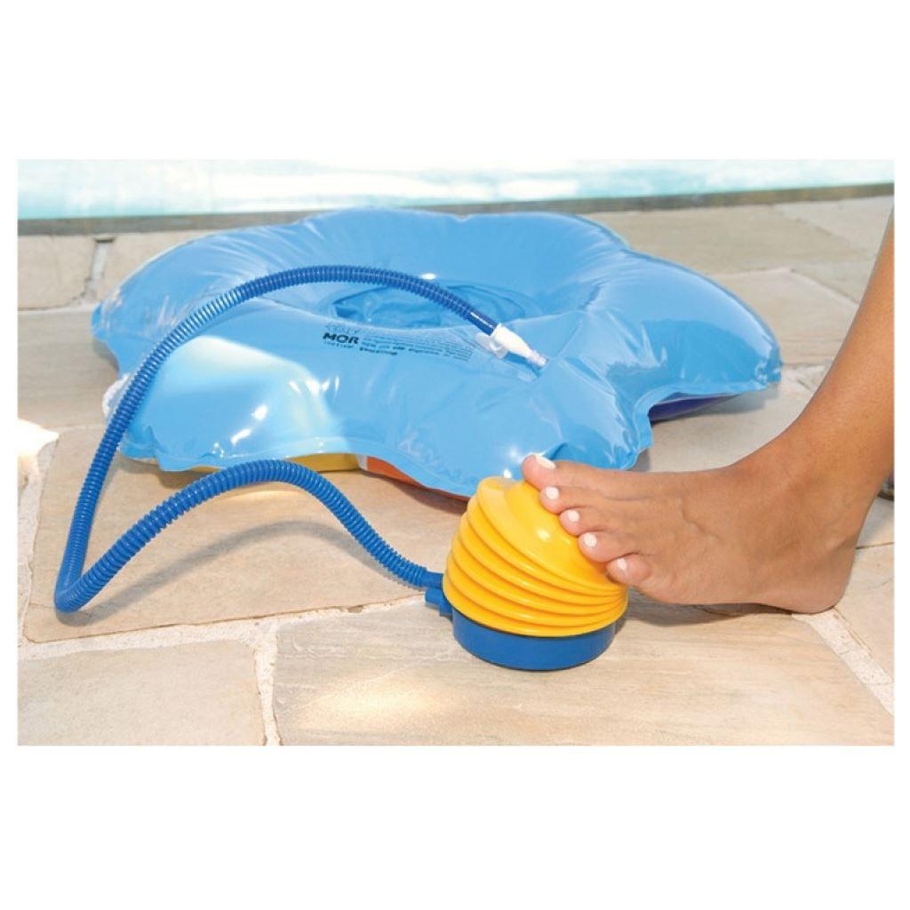 Inflador sanfonado pedal para piscinas e boias MOR