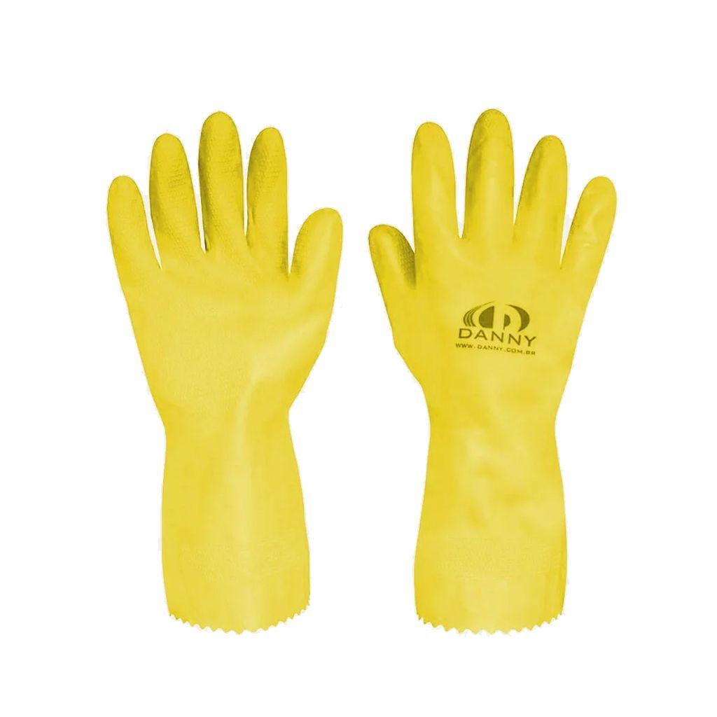 Luva limpeza geral amarela comfort látex Danny