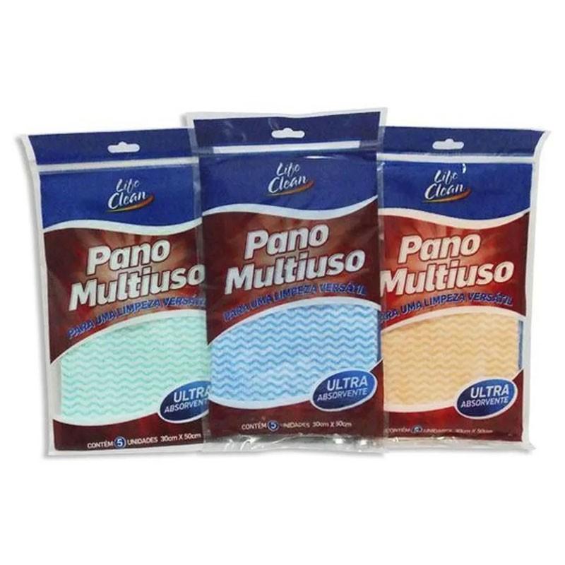 PANO MULTIUSO TNT 30 CM X 50 CM C/5 LIFE CLEAN