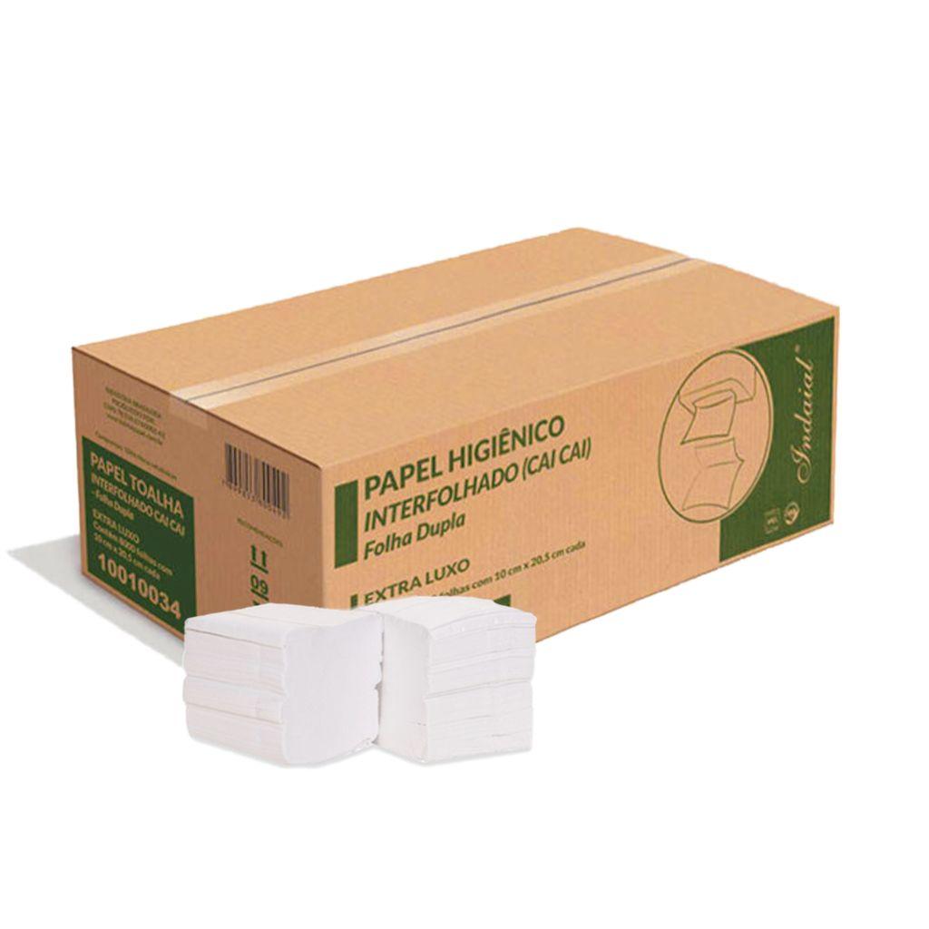 Papel higiênico folha dupla cai-cai extra luxo caixa c/8.000 Indaial