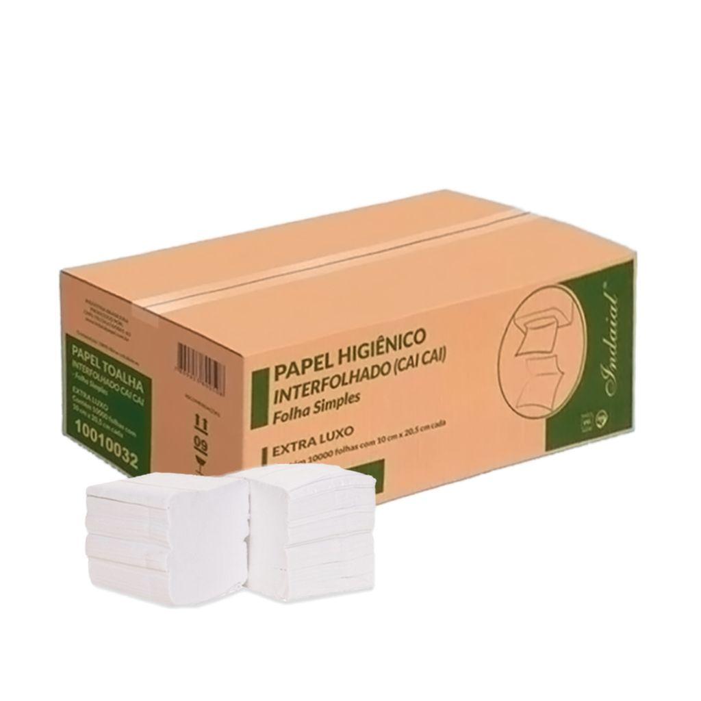 Papel higiênico cai-cai folha simples extra luxo c/10.000 Indaial