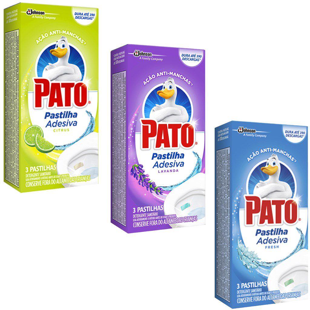 Pastilha sanitária adesiva c/3 unidades Pato
