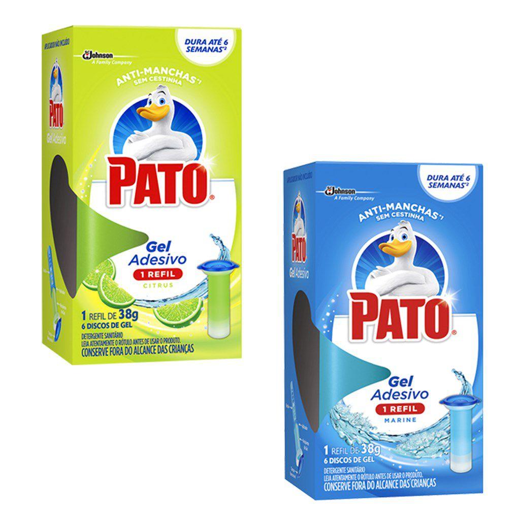 Pastilha sanitária adesiva gel revil c/ 06 Pato