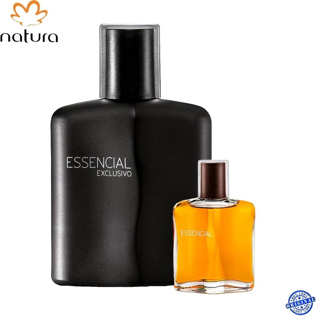 PERFUME NATURA MASCULINO ESSENCIAL EXCLUSIVO 100 ML E 25 ML 2 PEÇAS