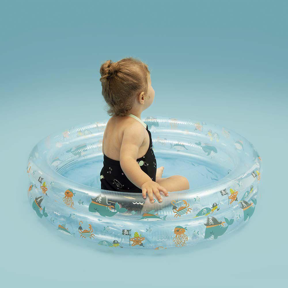 Piscina infantil inflável fundo do mar 90 Litros MOR