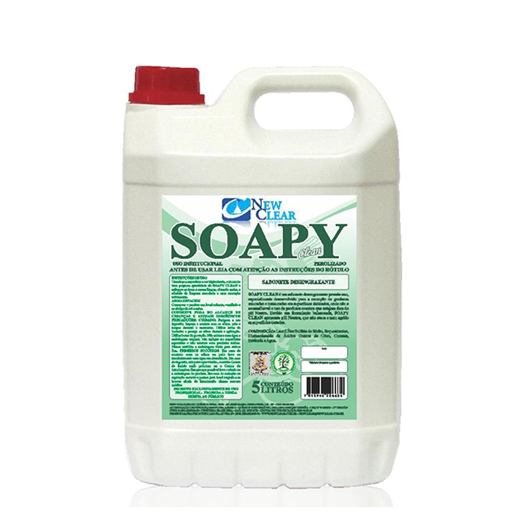 SABONETE LÍQUIDO DESENGRAXANTE SOAPY NEW CLEAR 5 LITROS