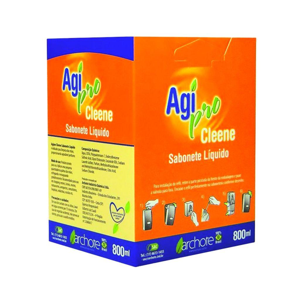 Sabonete líquido perfumado 800 ml Agipro Cleene Archote (refil)