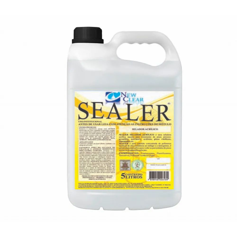 Selador acrílico para pisos 5 litros pronto uso Sealer New Clear