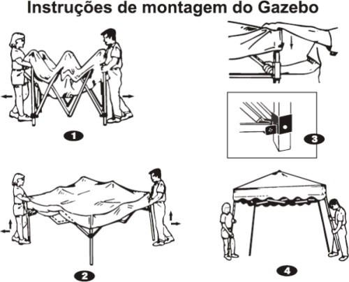 TENDA GAZEBO ARTICULADO 3X3 PROTEÇÃO UV XFLEX MOR AZUL