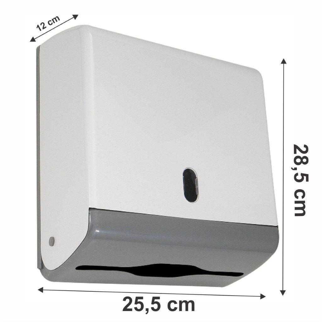 Toalheiro ABS junior para papel interfolha de 2 ou 3 dobras