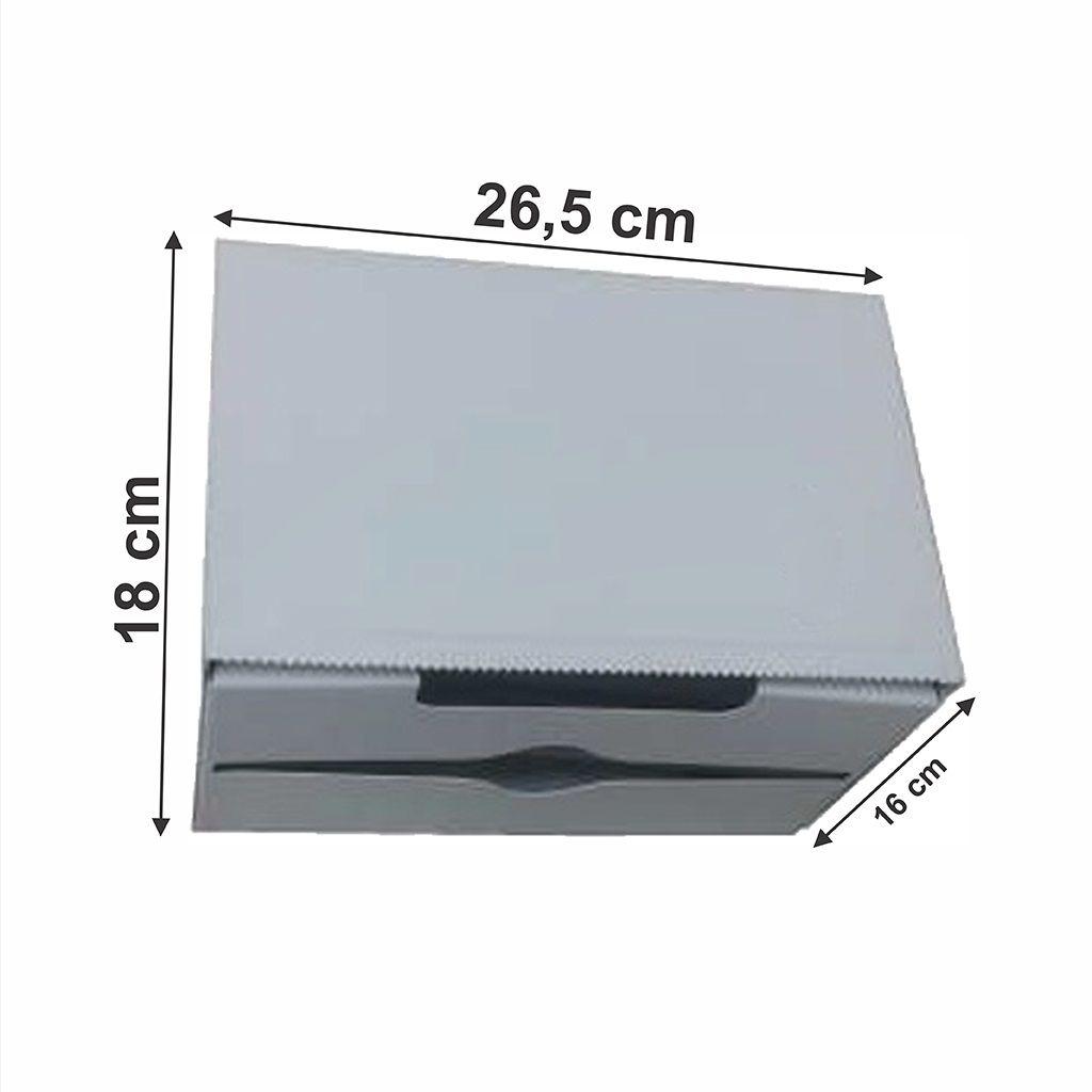 Toalheiro esmaltado para bobina 20/25cm ou interfolha 2 dobras