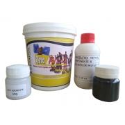 Kit Resina Semi Rígida para Preenchimento de Moldes de Silicone Aço Alumínio Retafill 1kg