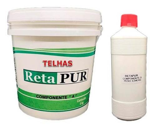1 Super Kit Cola Em Pu Retapur P/ Telhas- 9 Unidades