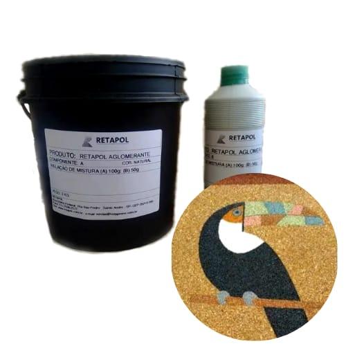 Aglomerante/ Fixador Para Confecção De Pisos Para Piscina de Areia