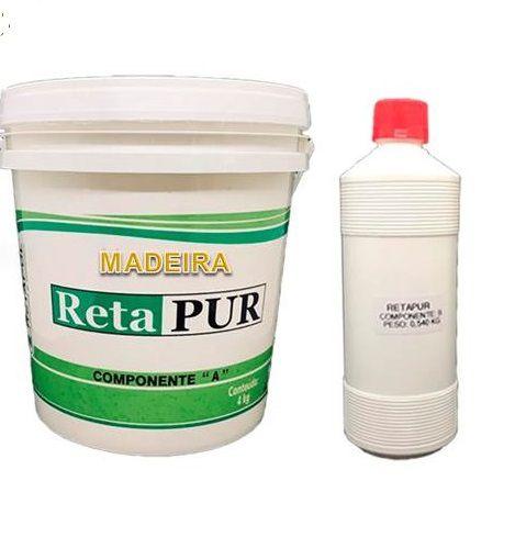 Cola em Poliuretano para Madeira / MDF / Compensado Naval / Artesanato/ Papelão  4,540 Kg