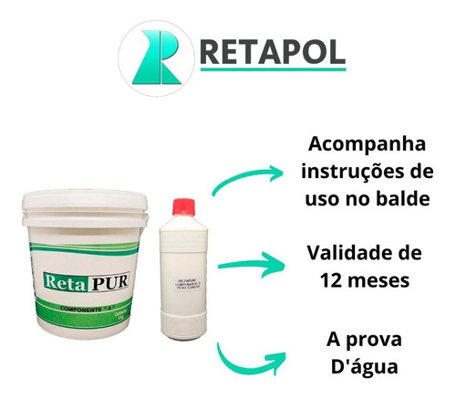 Cola Para Telha / 1 Kit Com Componentes ( A+ B) + Acessórios