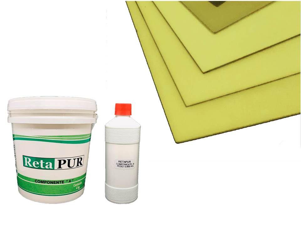 Kit Placa para Isolação Térmica 1300x1000x25mm + Cola em Poliuretano 4,600 Kg