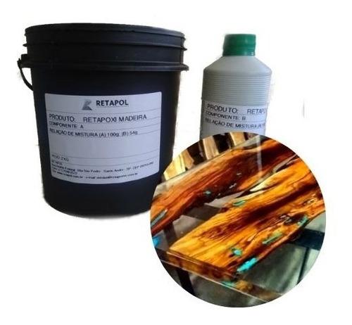 Resina Incolor Para Racks De Madeira 3 Kg - 1 Unid Retapoxi