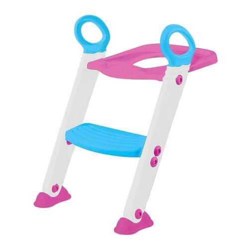 Assento Redutor com Escada Buba Articulável Baby Rosa