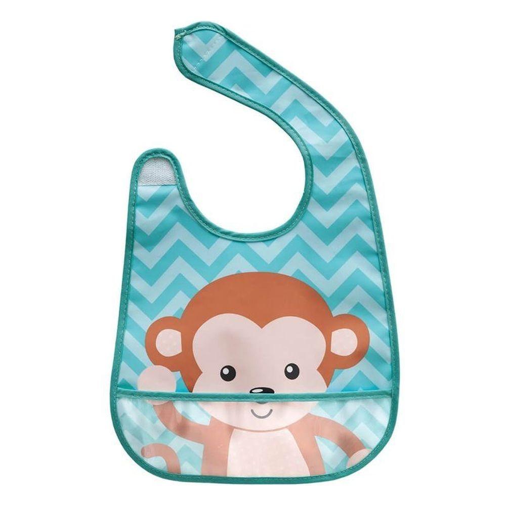 Babador Com Bolso Animal Fun Macaco Buba