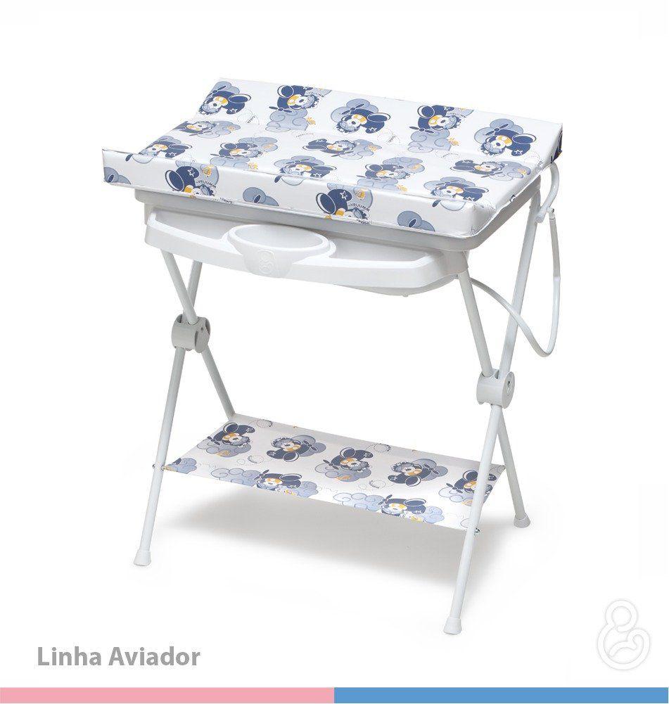 Banheira Plástica Para Bebê Galzerano Luxo Aviador