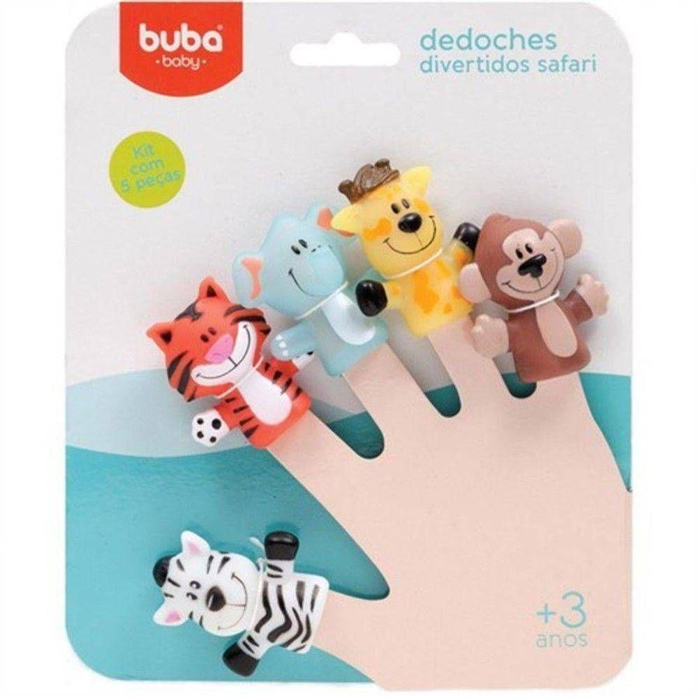 Conjunto de Dedoches - Animais do Safari - Buba
