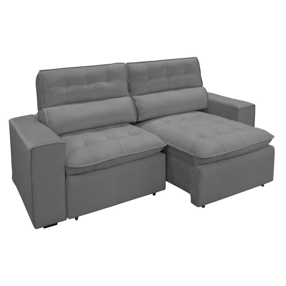 Sofa 2 Lugares Retratil Reclinavel Atenas 2,50 M Suede ...