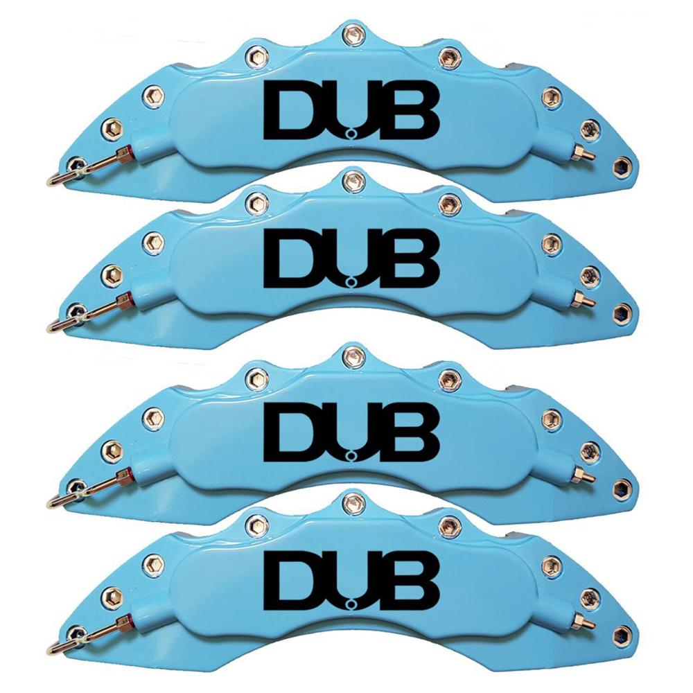 Capas para Pinça de freio Kit 4 Peças 24cm Azul Claro Escrita Preta Esportiva Dub