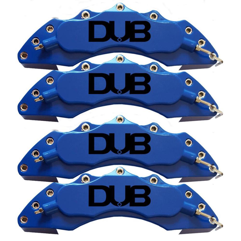 Capas para Pinça de freio Kit 4 Peças 24cm Azul Escrita Preta Esportiva Dub