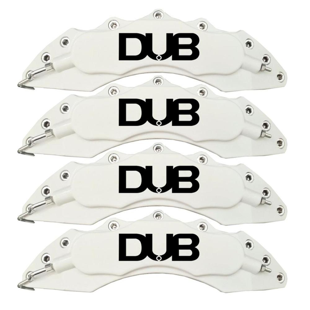 Capas para Pinça de freio Kit 4 Peças 24cm Branca Escrita Preta Esportiva Dub