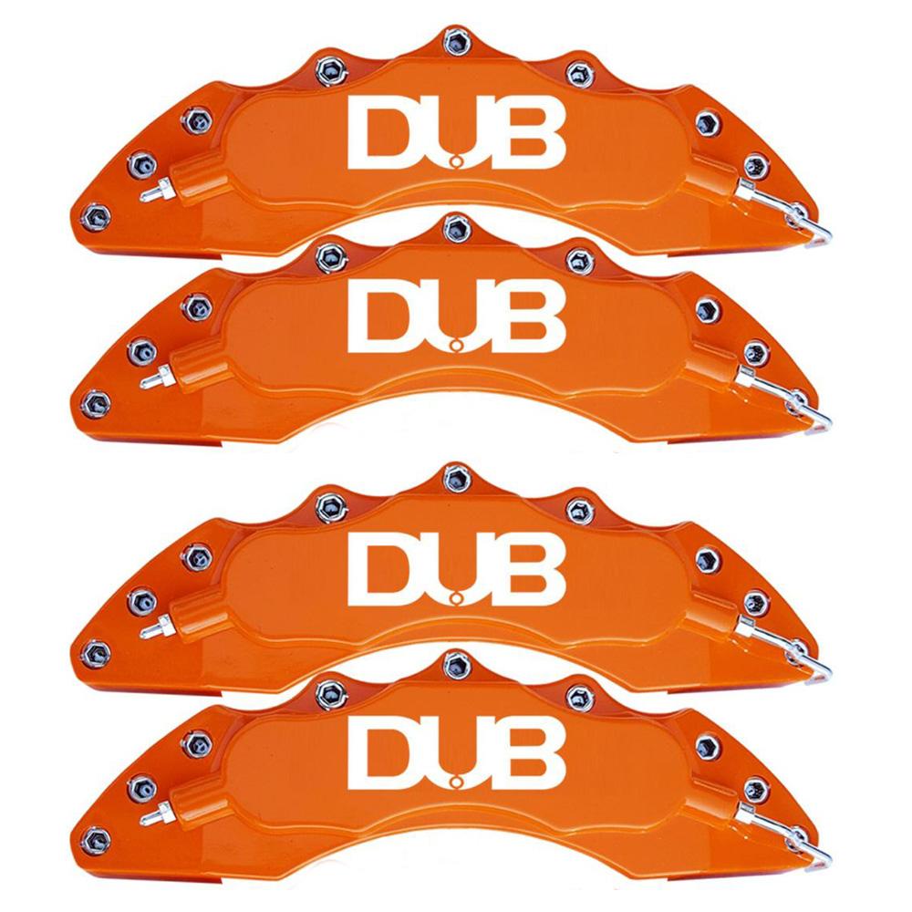 Capas para Pinça de freio Kit 4 Peças 24cm Laranja Escrita Branca Esportiva Dub