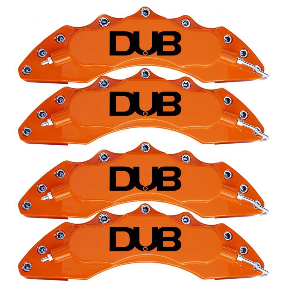 Capas para Pinça de freio Kit 4 Peças 24cm Laranja Escrita Preta Esportiva Dub