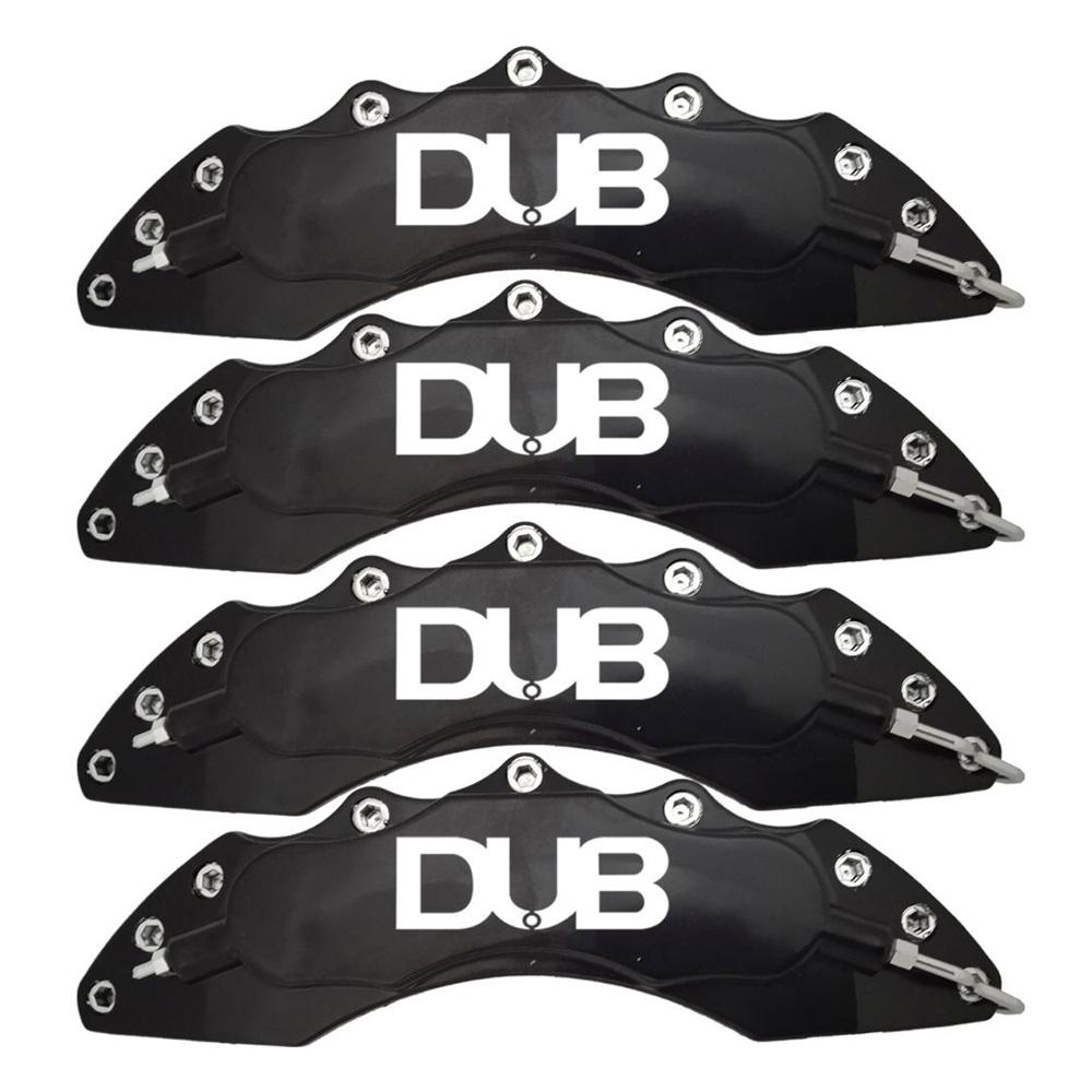 Capas para Pinça de freio Kit 4 Peças 24cm Preta Escrita Branca Esportiva Dub