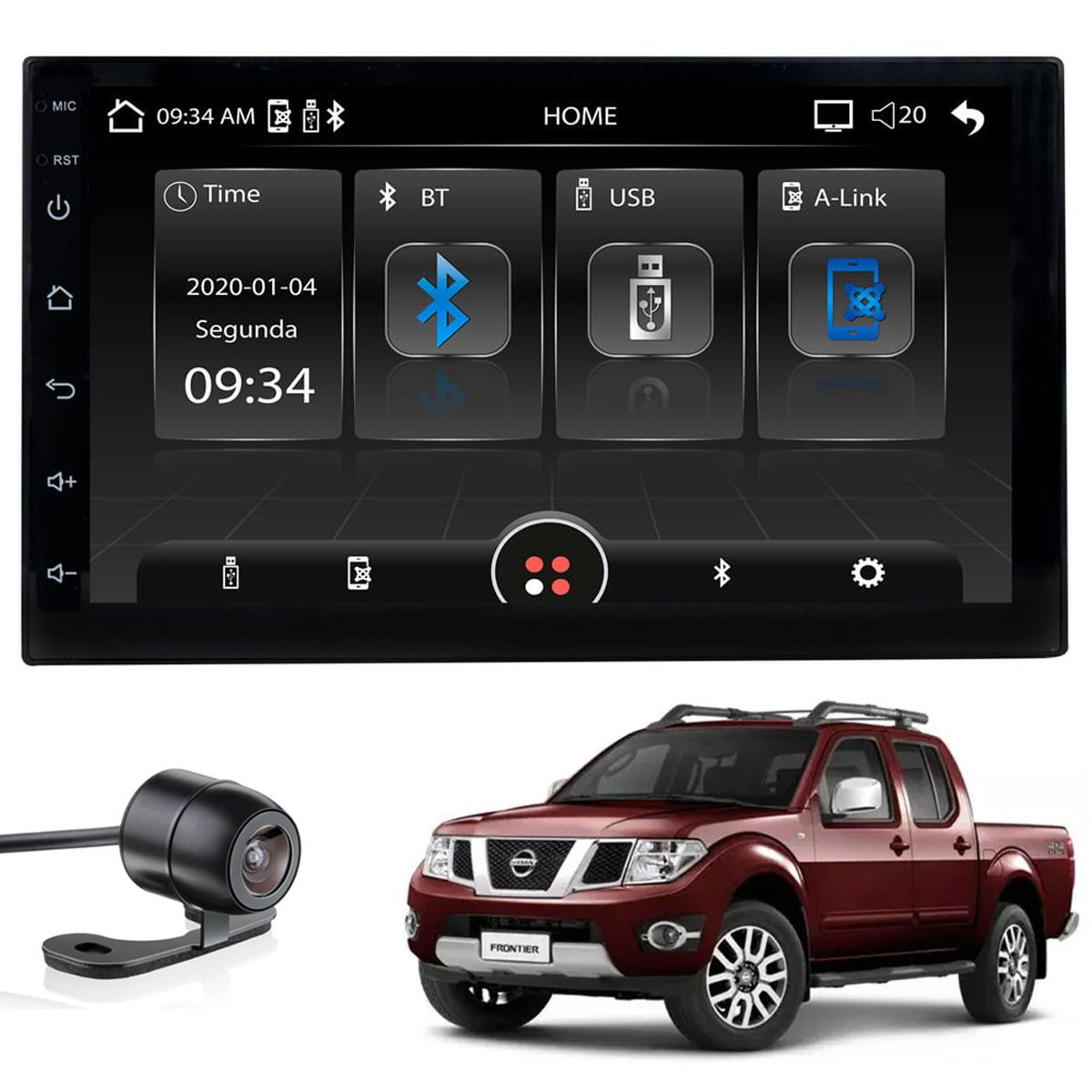 Central Multimídia MP5 Frontier 2008 2009 2010 2011 2012 2013 2014 2015 Bluetooth Usb Espelhamento Android IOS Câmera de ré