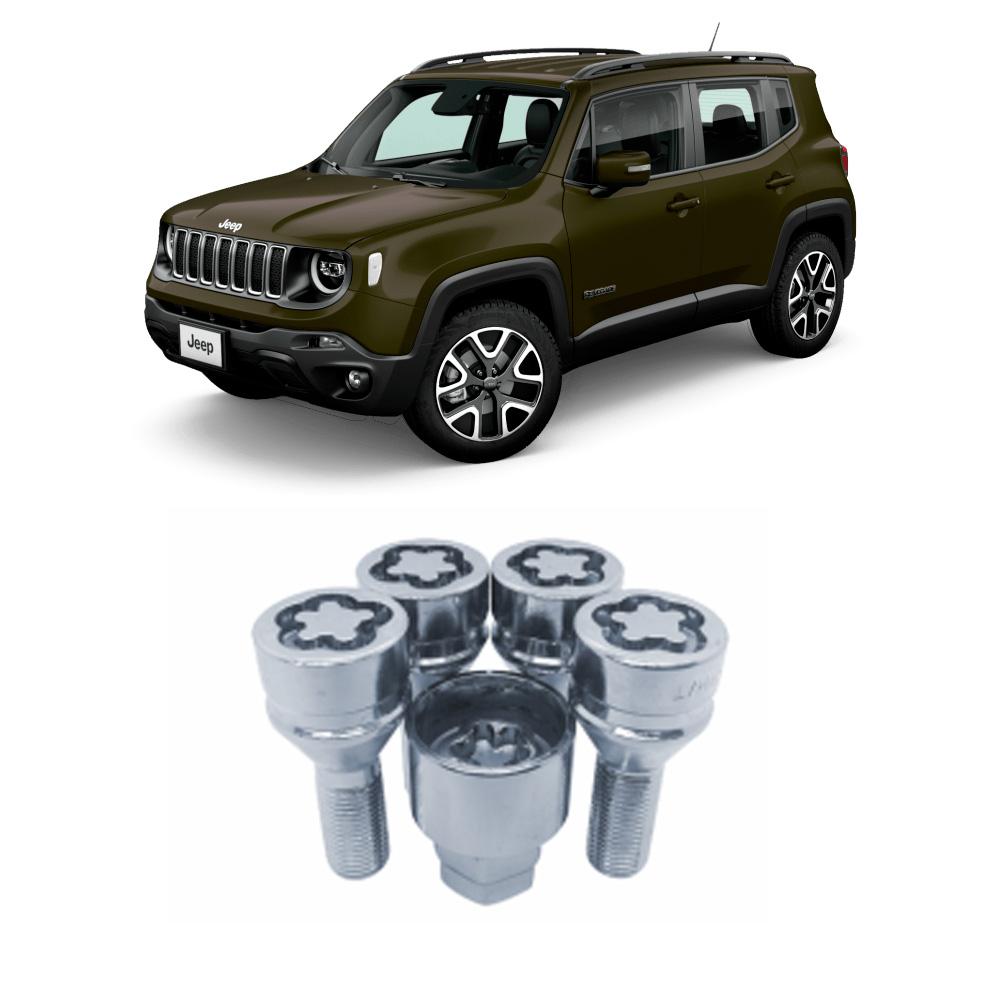 Jogo de Parafuso Anti-Furto de Roda Jeep Renegade 4 Peças Rayx