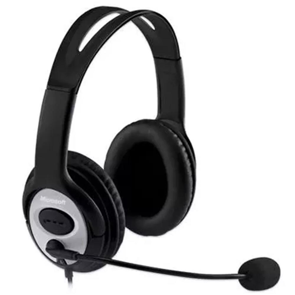 Kit 4 Headset fone Microsoft Life Chat Lx-3000 Preto - Jug-00013