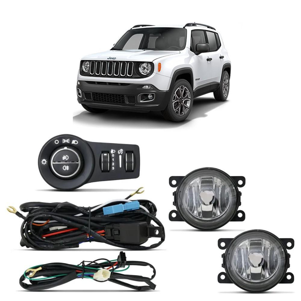 Kit Farol de Milha Jeep Renegade 2020 em diante com Botão Original